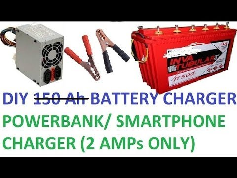 How to recycle SMPS of Computer for battery charger and smartphone charger.