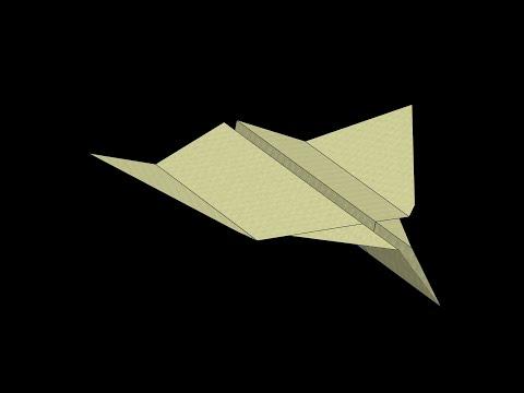 Zebra Paper Airplane: 3D Folding