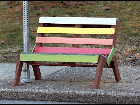 How to Make a Park Bench from Pallets
