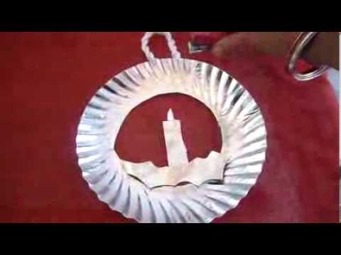 christmas craft for kids,paper plate wreath,2013