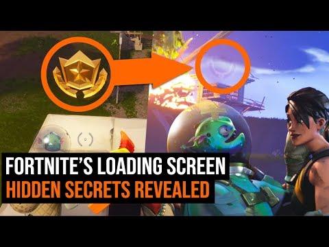 Fortnite's Loading Screen Hidden SECRETS Revealed - Blockbuster Challenge
