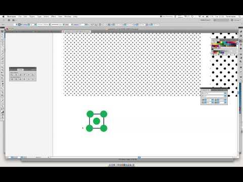 How to make Polka dot pattern swatch in Illustrator - beginner tutorial