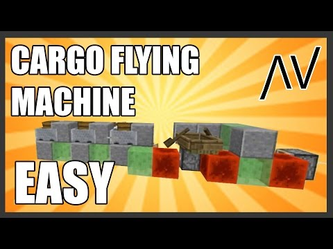 Best Minecraft Flying Machine - 3 Chests - 2 People - Cheap fast and little redstone