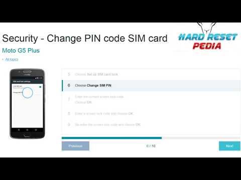 ☑️ Moto G5 Plus Change PIN code SIM card