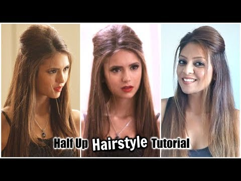 Half Up Half Down Hairstyle Tutorial Inspired by Nina Dobrev│Easy Front Puff for Medium to Long Hair