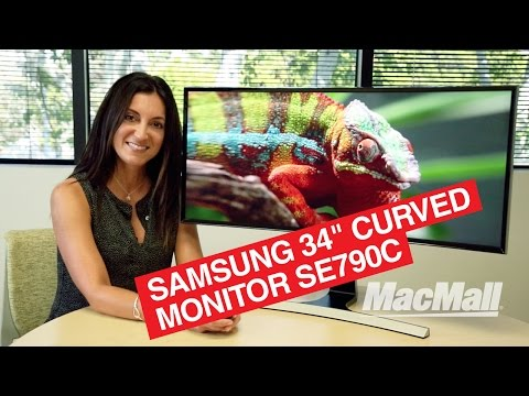 """Samsung 34"""" Curved Monitor SE790C Overview – MacMall"""