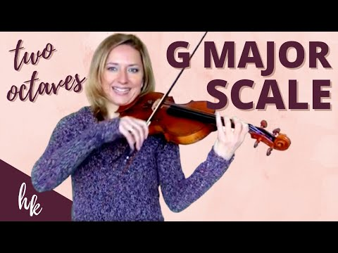 How to Play a Two Octave G Major Scale on the Violin