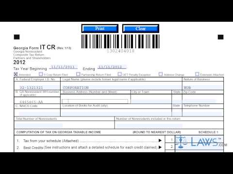 Form IT CR Non Resident Composite Tax Return