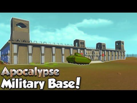 Military Base! - Scrap Mechanic Apocalypse World [Ep. 8]