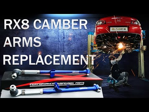 Mazda Rx8 Control Arm Replacement | Rx8 Camber Arm Kit Install