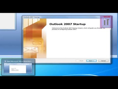 how to configure outlook 2007 in Windows 7