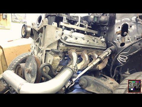 Jeep Steering Shaft Mod + Stock LS Manifold Hotside Begins | S10 Turbo 5.3 Build
