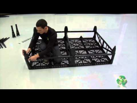 Earthbeds latest innovative bed - 100% recycled plastic!