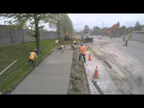 Sidewalk construction