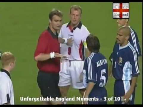 Beckham Red Card v Argentina 1998