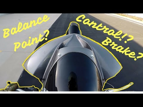 How to Slow WHEELIE at Balance Point, with Rear Brake! (MotoVlog)