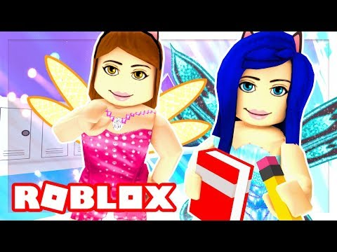 FIRST DAY AT FAIRY HIGH SCHOOL! GETTING OUR NEW DORMS WITH TOUR!! (Roblox Roleplay)
