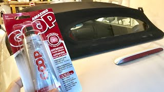 How to glue separating convertible top and rear window on my Plymouth Prowler
