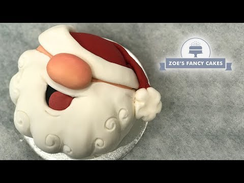 Santa face cake Christmas fruit cake