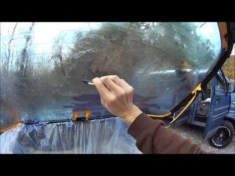 Remove VERY old window tint without damaging defroster