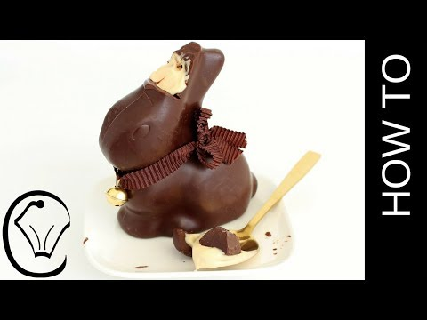 Caramel Cheesecake Filled Lindt Easter Bunny by Cupcake Savvy's Kitchen
