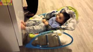 Cute baby rocking with rhyme