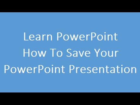 Save PowerPoint Presentation Hindi
