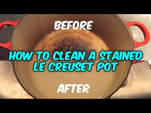 How To Clean A Stained Le Creuset Pot With Bleach And Water