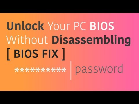 BIOS Locked ? Crack BIOS Password Without Disassembling PC | All Brands