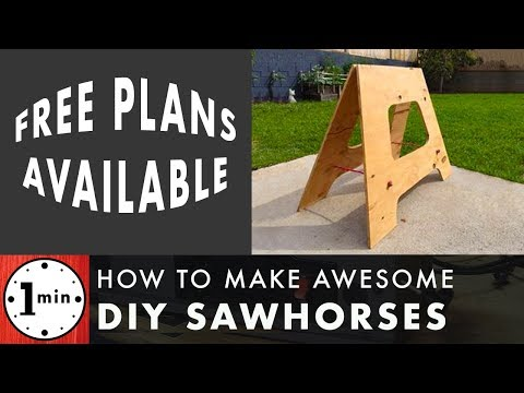 How To Make AWESOME DIY Sawhorses!