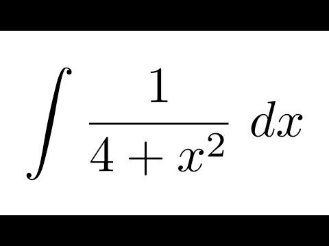 Integral of 1/(4+x^2)