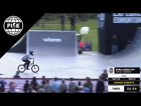 Hannah Roberts: 1st Final UCI Freestyle Park World Cup Womens at FISE World Series Edmonton 2017