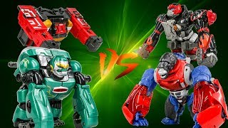 PowerRangers Animal Jungle WildForce Gorilla VS Transformers OptimusPrimal Transformation