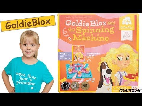 GoldieBlox and the Spinning Machine - Amazing STEM and Engineering toy for girls!
