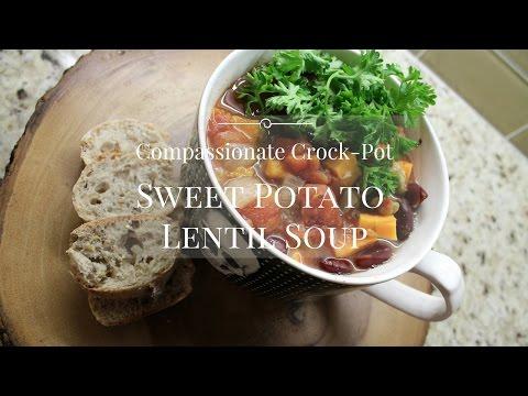 Sweet Potato Green Split Pea (Lentil) Soup // Compassionate Crock-Pot