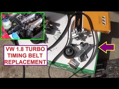 VW Jetta Golf MK4 1.8T Turbo Timing Belt Replacement  Seat Leon  VW Bora