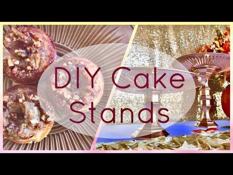 DIY Dollar Tree Pedestal Cake Stands