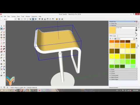 Sketchup Basic Tutorials - Modeling Simple Chair