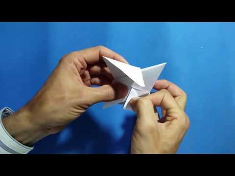 كيف تصنع سلاح نجمة نينجا من الورق