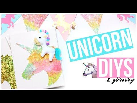 Unicorn DIYS!   + Giveaway!