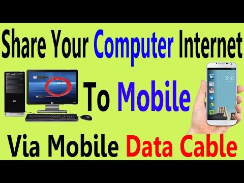How To Share PC Internet To Mobile Using Data Cable In Urdu/Hindi