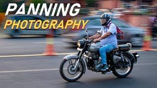 PANNING PHOTOGRAPHY Camera Settings + Live Shoot (in Hindi)