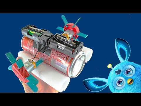 HOW to MAKE an ELECTRIC TOY BOAT / DIY mini boat with two dc motors