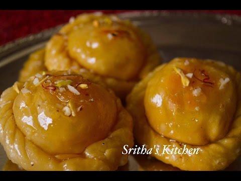 Chandrakala Sweet Recipe | Chandrakala | Mawa Samosa | Gujiya Recipe - By Sritha's Kitchen