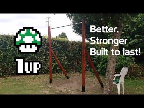 DIY Backyard Pull up Bar Upgrade