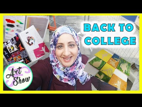 Back to college looking at sketchbooks! | Fatema's Art Show