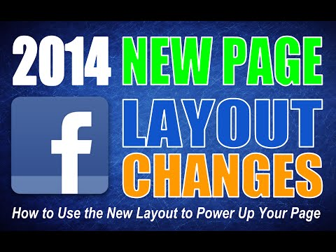 2014 Facebook New Page Layout and Tab Update