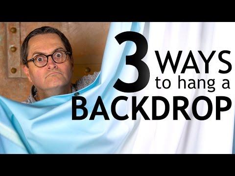 TSL 3 Ways to Hang a Backdrop DIY Tutorial