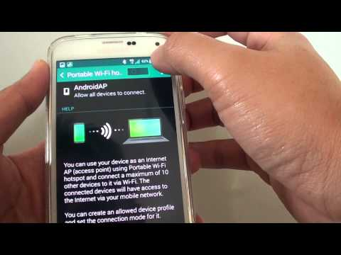 Samsung Galaxy S5: How to Enable/Disable Tethering and Wi-Fi Hotspot
