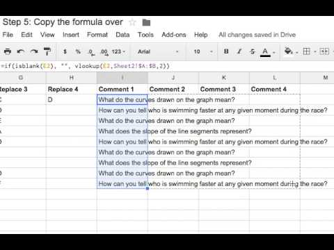 Copying the comment formula in Google Spreadsheets
